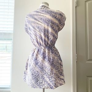 Kimchi Blue Dresses - Urban Outfitters Silk Blue & White Dress Medium
